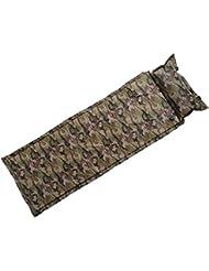 TOMSHOO Matelas de camping Autogonflable Portable Léger avec Oreiller gonflable Coussin de couchage pour Camping Randonnée Pique-niques ( 1 Place )