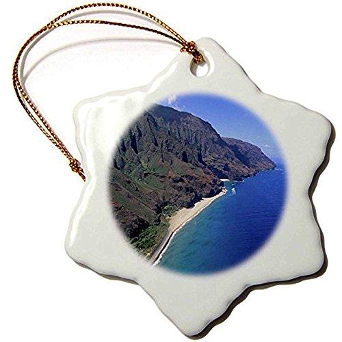 Napali Coast Kauai Hawaii-US12dpb0610-Douglas Peebles-Schneeflocke Ornament, Porzellan, 3Zoll ()