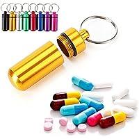 WINOMO 8pcs imprägniern Aluminiumpille-Kasten-Kasten-Flaschen-Speicher-Droge-Halter-Behälter Keychain für im Freien... preisvergleich bei billige-tabletten.eu