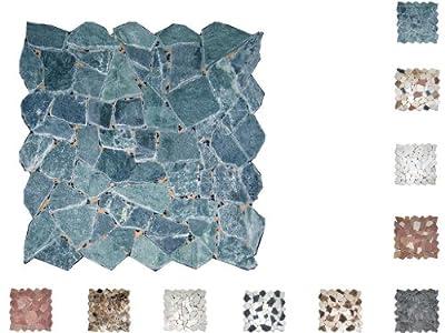 1Netz Marmor Mosaik Bruch getrommelt Verde von Mosaikdiscount24 - TapetenShop