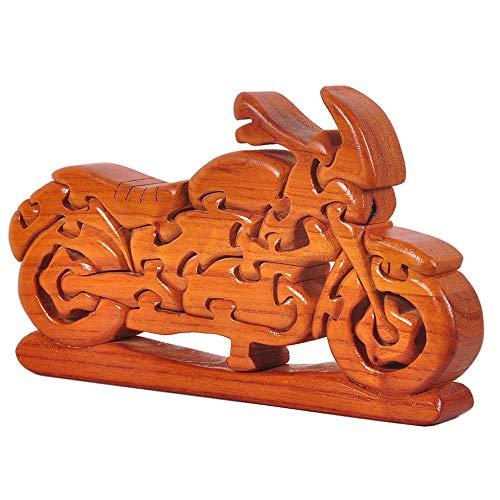 Chonor 3D Puzzle Brainteaser Denkspiel aus Holz - Motorrad Holzspielzeug Knobelspiel Geduldspiel Intelligenz Pädagigisches Gehirntraining Logikspiel - Geschenk für Kinder und Erwachsene