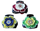Pack of 3 Hair Clutches Embellished with...