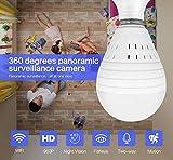 Telecamera IP,Dome,Videocamera di sorveglianza,lampada da tavolo,visione notturna da 360 gradi per Bambino Anziani Animali 1,3 milioni di pixel Unica fonte di luce
