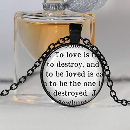 s Mortal to Love is to Destroy City Shadowhunter Knochen Halskette Schmuck Kristall Halskette Cabochon ()