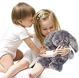 Kufl Wärmestofftier Hase für Babys und Kinder - Wärmekissen Kuscheltier für Mikrowelle in grau Wärmetier mit Naturfüllung