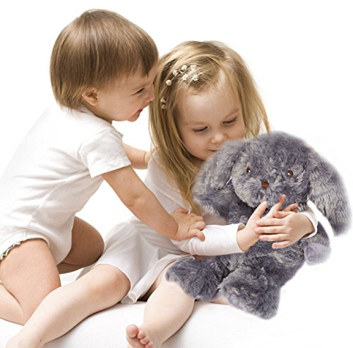 Wärmestofftier Hase für Babys und Kinder – Wärmekissen Kuscheltier für Mikrowelle in grau Wärmetier mit Naturfüllung