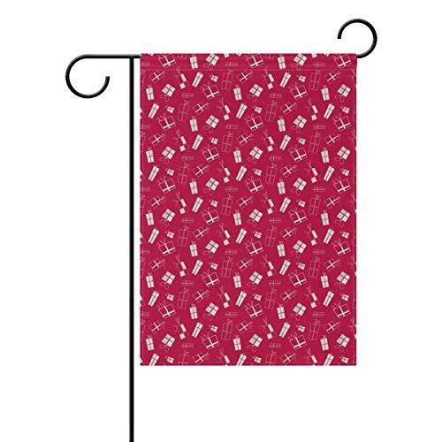 DEZIRO Rose Red Lustige Neuheit Geschenk Crew Hofflagge Custom Garden Flag Double Side, Polyester, 1, 28x40(in)