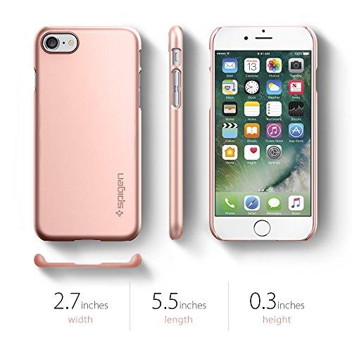 iPhone 7 Hülle, Spigen® [Thin Fit] Passgenaues [Diamantschwarz] Premium Hart-PC Schale / Schlanke Handyhülle / Schutzhülle für Apple iPhone 7 Case Cover - Jet Black (042CS20845) Rosa-Goldfarben