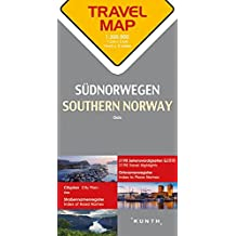 Reisekarte Südnorwegen 1:300.000: Travel Map Southern Norway
