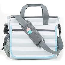 Bolsa para pañales Bula Baby de 12 compartimentos diseño geométrico galones