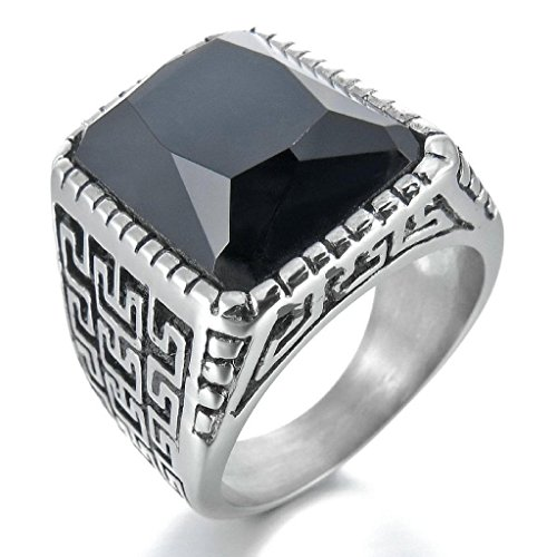 epinkifashion-jewelry-mens-stainless-steel-rings-agate-silver-black-greek-engraved-vintage