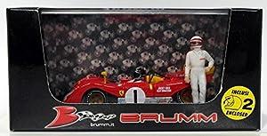 Brumm-Ferrari-312PB-1000kms de Monza 1972+ Controladores Coche de ferrocarril de Collection, r261ch, Rojo/Amarillo