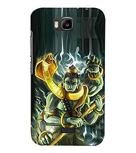 Fiobs Designer Back Case Cover for Huawei Honor Bee :: Huawei Honor Bee Y5c (Mahadev Shiv Shankar God)