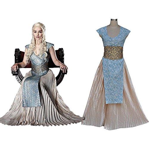 Vivian Halloween Game Of Thrones Daenerys Targaryen Abendkleid weibliche Gewand Cosplay Kostüm,Größe L:(165-170 (Game Daenerys Kostüme Of Thrones Halloween)