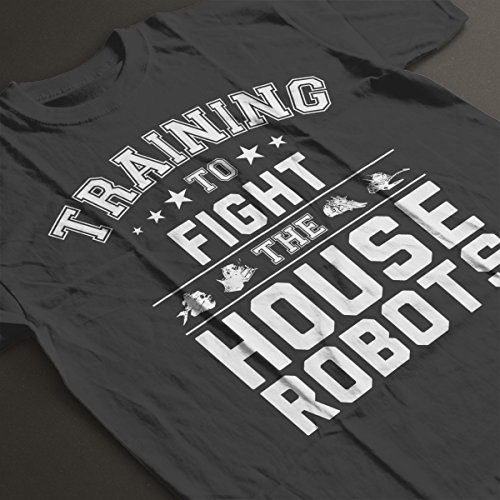 Robot Wars Training To Fight House Robots Women's T-Shirt Charcoal