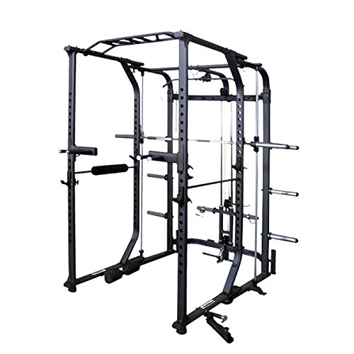 Primal Strength Alpha Primary Fitness Ultra 10.0 zusammenklappbar Power Rack & Smith matt Nero