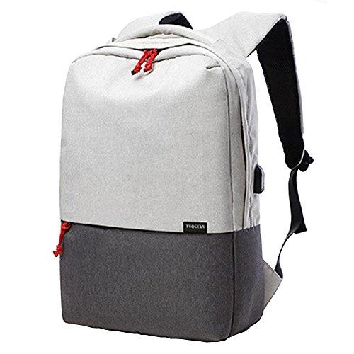 Preisvergleich Produktbild Joyousac Slim Business-Laptop-Rucksack für Frauen & Männer, leichte College Wasser resistent Computer Rucksäcke passt die meisten 12-15 Zoll laptops