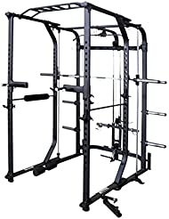 Primal Strength Alpha principale de fitness Ultra 10.0 Folding Power Rack & Smith Mat Nero