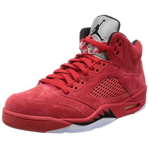 51PP pWoEhL. SS500  - Nike Air Jordan 5 Retro 'Red Suede' - 136027-602 - Size 9 -