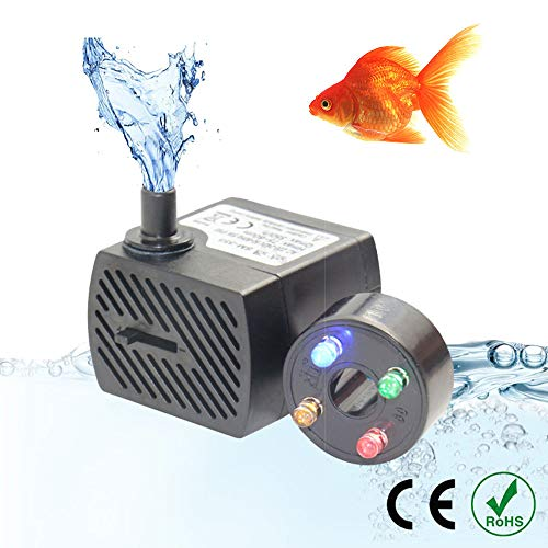 UTOPIAY Bomba Agua Sumergible Ajustable acuarios 350L/H
