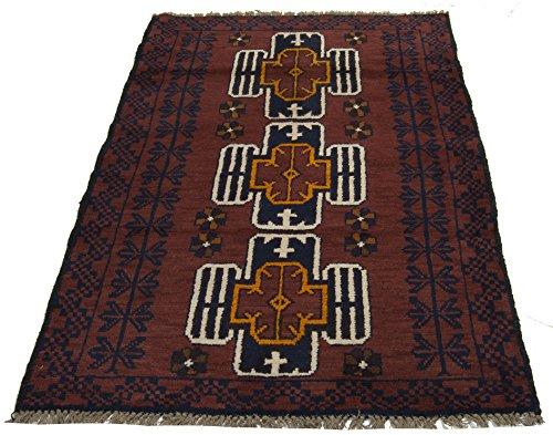 Galleria farah1970 - cm 138x93 autentico, originale tappeto rustico pure lana fatto a mano afgano
