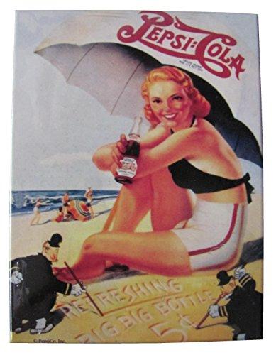 Kühlschrankmagnet Magnet 6 x 8 cm \'Pepsi Cola\' von Nostalgic Art