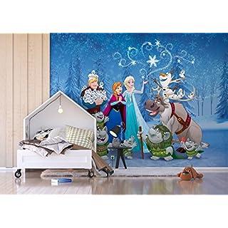 AG Design FTDXXL 2243  Disney Frozen Die Eiskönigin Papier Fototapete für Kinderzimmer, 4 teile, mehrfarbig, 360 x 255 cm