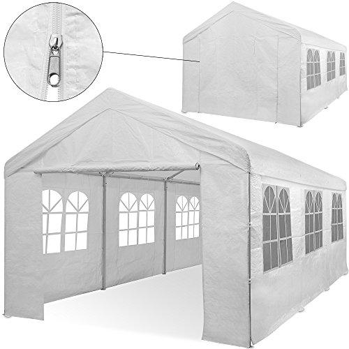 Deuba® Partyzelt 6x3m Pavillon Festzelt Carport Bierzelt Gartenzelt Familienzelt Zelt ✔ 12 Rundbogenfenster ✔ 18m² ✔ Modellauswahl