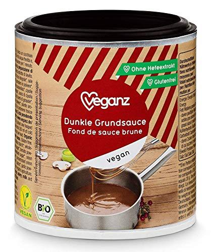 Veganz BIO Dunkle Grundsauce ✔ Vegane Basis Sauce für Feinschmecker Saucen Rezepte ✔ Soße Vegan Dunkel 6 x 140g