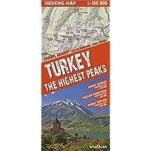 Turkey the Highest Peaks. Trekking map 1 : 100 000