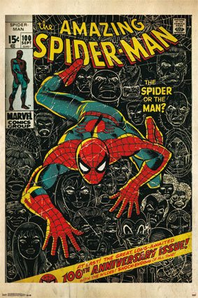 poster-autocollant-dc-comcis-spider-man-24-x-36-sticker-autocollant-repositionnable-new-dc7274