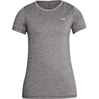Under Armour UA HG SS Camiseta de Manga Corta, Mujer, Gris (020), XL