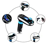 [Upgraded Version] VicTsing Bluetooth MP3 Player FM Transmitter Hands-free Car Kit Charger, Dual USB Charging 5V/2.1A Output, Micro SD/TF Card Reader Slot for iPhone SE 6s 6s Plus iPhone 6 6 Plus, iPad, etc - Silver Bild 3