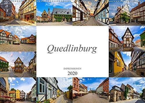 Quedlinburg Impressionen (Wandkalender 2020 DIN A2 quer): Zu Besuch in der Welterbestadt Quedlinburg (Monatskalender, 14 Seiten ) (CALVENDO Orte)