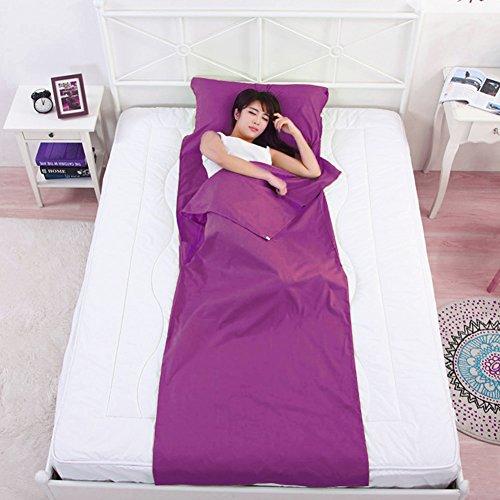 Tragbare Schlafsack, Schlafsack Inlett, Schlafsack Inlay, Reiseschlafsack. Ideal für Hostels, Berghütten und Jugendherbergen