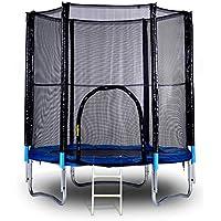 8 Fuß Trampolin mit Handlauf und Leiter, Safe Elastic Band Rebounder Fitnesstrainer für Kinder oder Erwachsene 96 Zoll preisvergleich bei fajdalomcsillapitas.eu