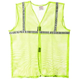 Aarvee Safety Jacket 1″ Reflective Tape Green Net 50 gsm
