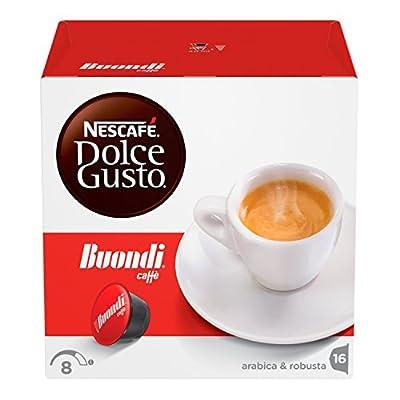 Nescafé Dolce Gusto Espresso Buondi, Pack of 3, 3 x 16 Capsules