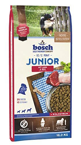 bosch HPC Junior mit Lamm & Reis | Hundetrockenfutter zur Aufzucht ernährungssensibler Welpen, 1 x 15 kg