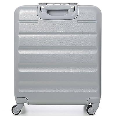 Aerolite 56x45x25cm léger Easyjet et British Airways BA Cabin Maximum Allocation Shell dur Voyage bagages à main Spinner Valise avec 4 Roues 22in, 41L