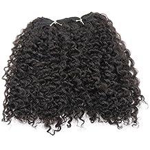 """Extensiones sintéticas del pelo humano Color natural de la armadura rizada del pelo de la onda por JZEE Beauty (HONEY 8 """")"""