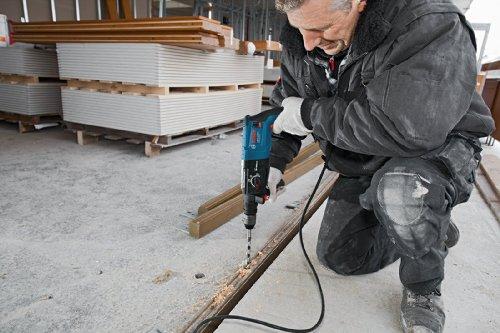 Bosch Professional GBH 2-28 DFV Bohrhammer (SDS-plus-Wechselfutter, 13 mm Schnellspannbohrfutter, bis 28 mm Bohr-Ø, Koffer) blau - 4