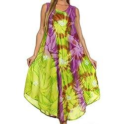Sakkas 00831 -Vestido / Pareo Sakkas Starlight -Green / Purple-One Size