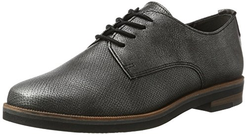 Marco Tozzi 23201, Oxford Femme Argent (Pewter Antic)