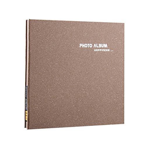 FOOHAO- Albums photo avec des pages collantes, 20 pages (surface 40), des albums bricolage faits à la main minimaliste (Couleur : White card)