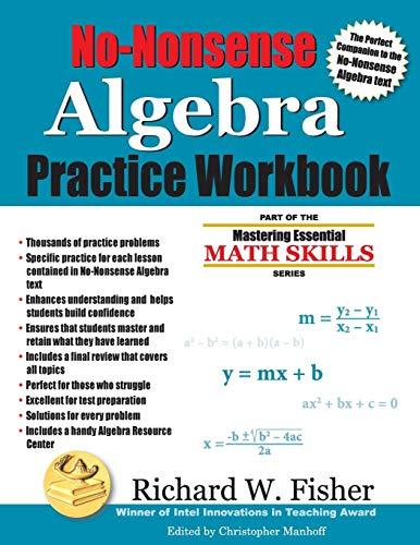 PDF Download No Nonsense Algebra Practice Workbook Part