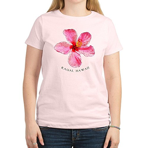 Insel Kauai Women'Hibiscus Hawaii Women'T-Shirt, Pink, hell, dunkel (Rosa T-shirt Hawaii-womens)