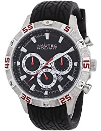 Nautec No Limit Herren-Armbanduhr XL Dragster Analog Automatik Kautschuk DG AT/RBSTBKBK-RD