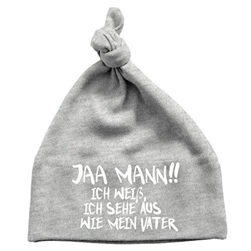 Mikalino Baby Mütze Jaa Mann!! Ich weiß, ich sehe aus wie mein Vater , Größe:0-6 Monate;Farbe:heather (Rockstar Hats)