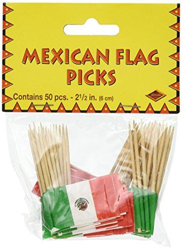 Plektren mit mexikanischer Flagge 10-teilig Pkg of 1 Grün/Rot/Weiß -